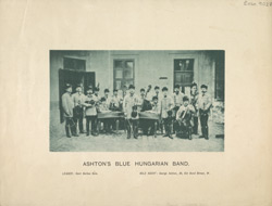 Photograph of [George] Ashton's Blue Hungarian Band